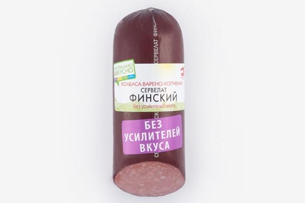 Колбаса варено-копченая Сервелат Финский в/у 320г