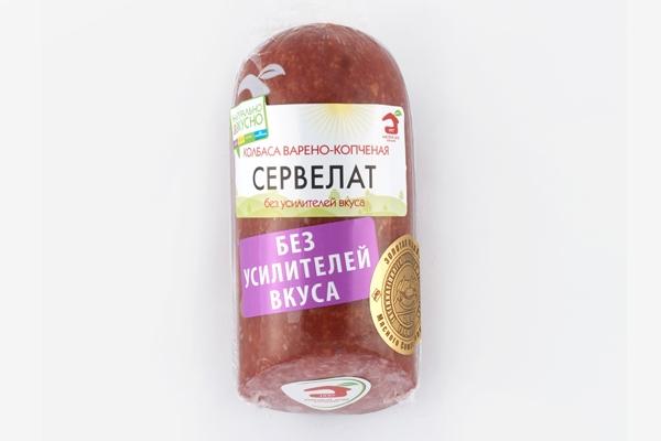 Колбаса варено-копченая Сервелат в/у 320г